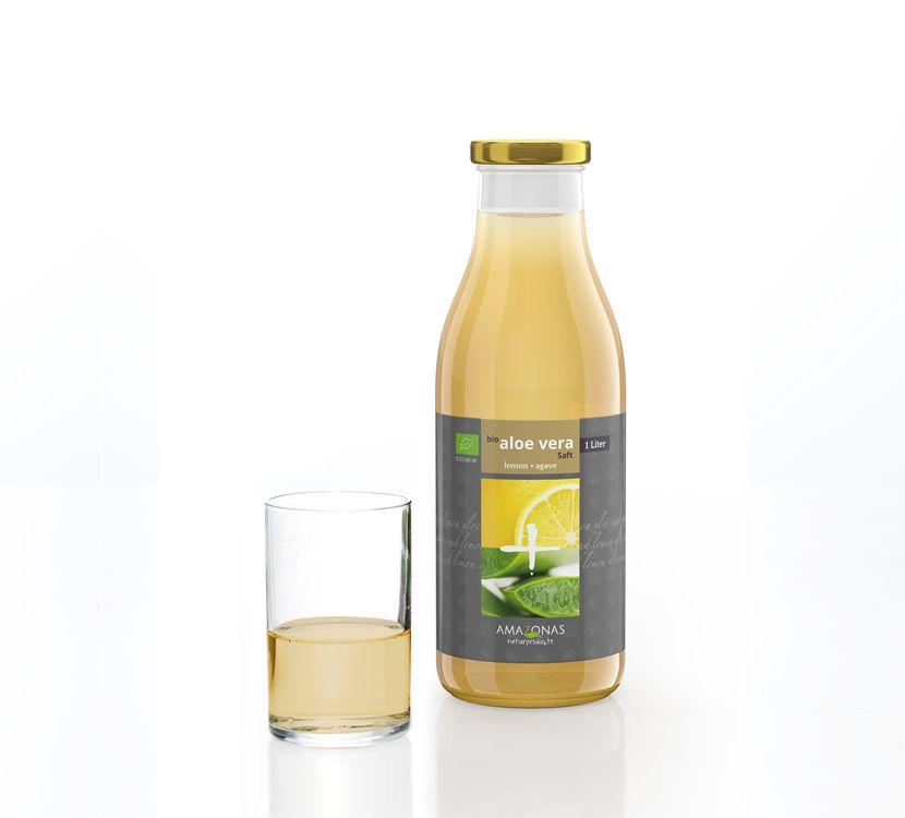 AMAZONAS BIO Aloe Vera Saft Lemon + Agave